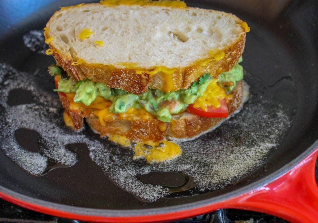 Grilling Guacamole Sandwich 1