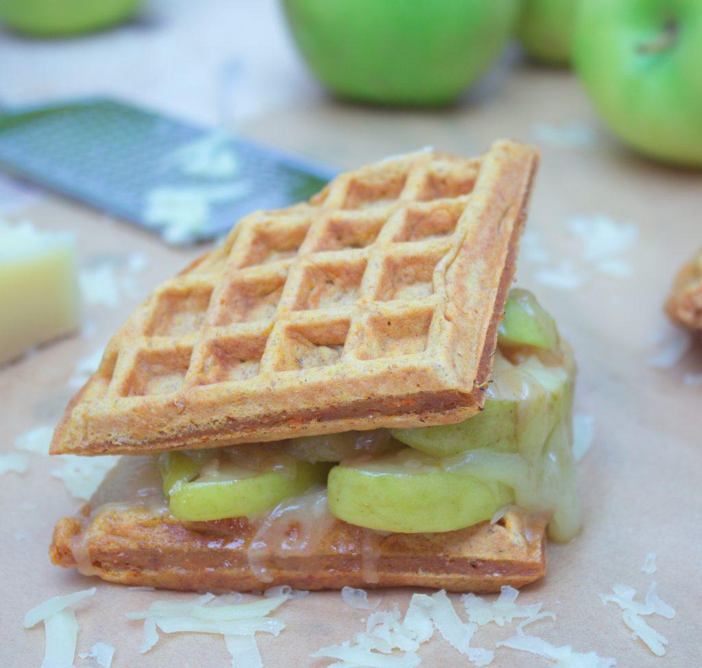 Gruyere Caramelized Apple Waffle Sandwich 1