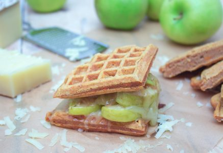 Gruyere Caramelized Apple Waffle Sandwich 2 1