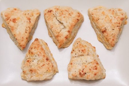 Honey Cheddar Scones with Black Pepper Main 1