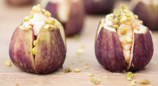 Honey Ricotta Stuffed Figs with Pistachio Image 1