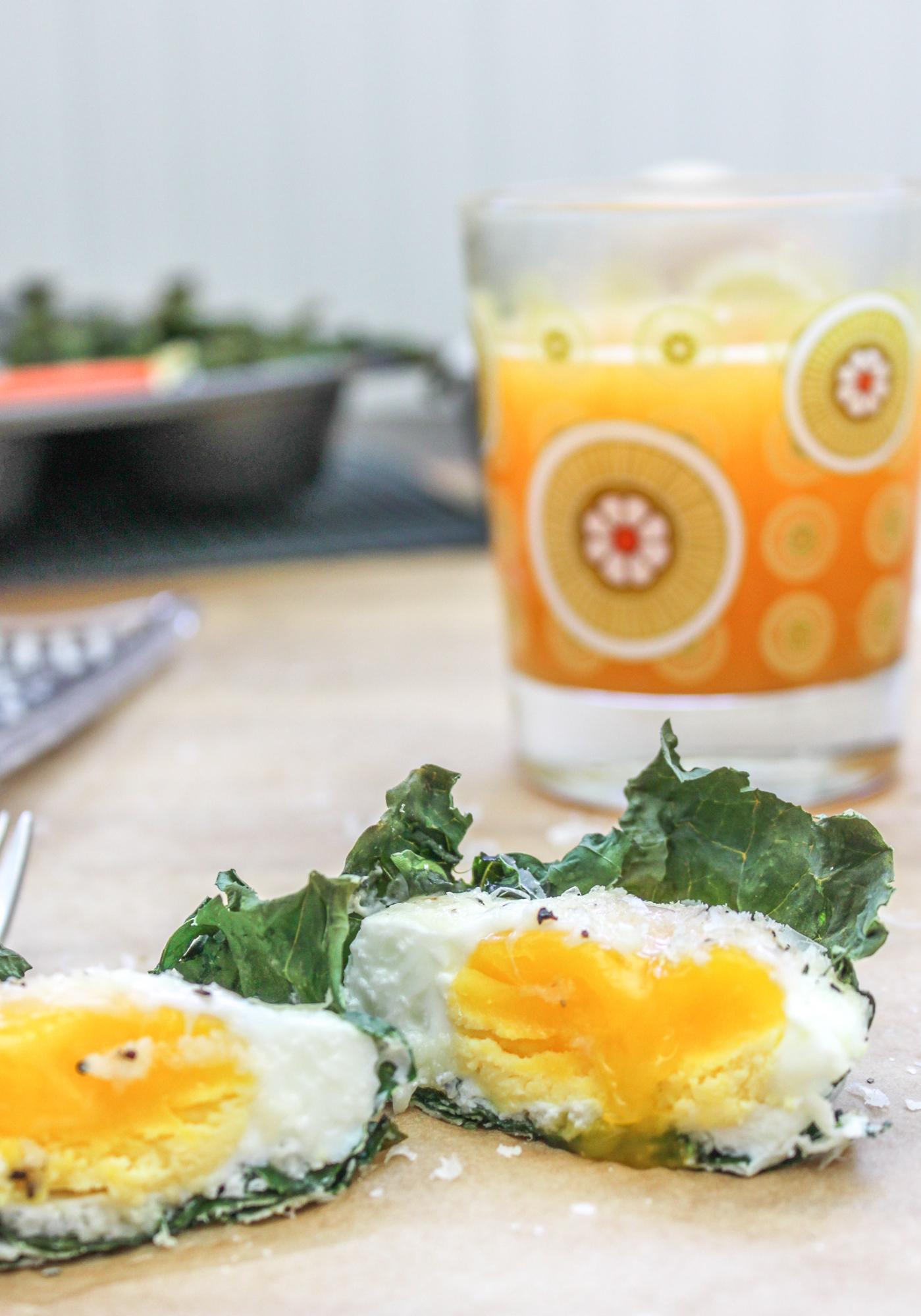 Kale Baked Eggs 2 3