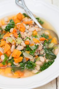Kale Roasted Butternut Squash Soup with White Beans and Quinoa 3