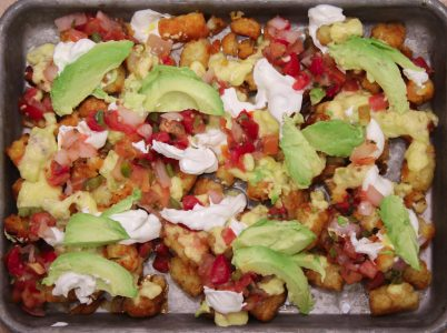 Loaded Sriracha Glazed Tater Tot Nachos 1