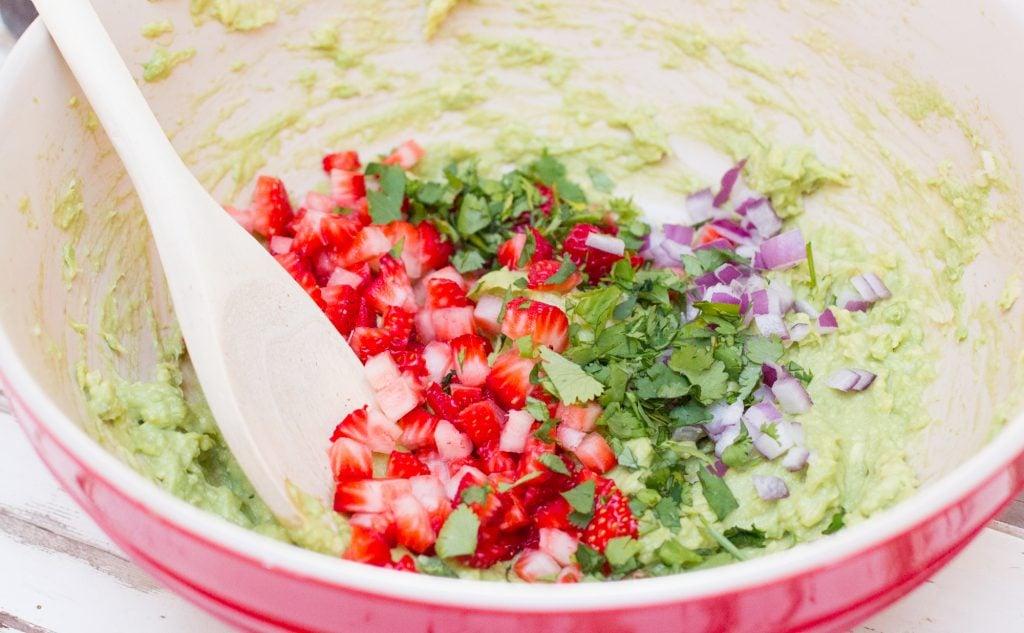 Making Strawberry Guacamole 1