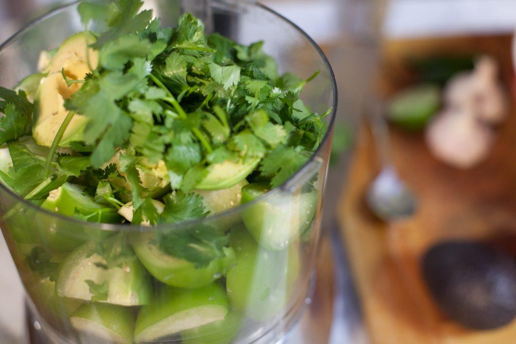 Making Tomatillo Salsa 1
