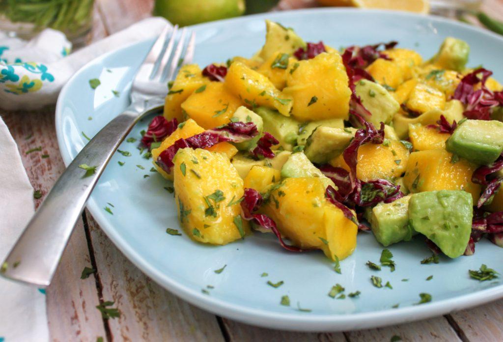 Mango Avocado Salad Close Up 2