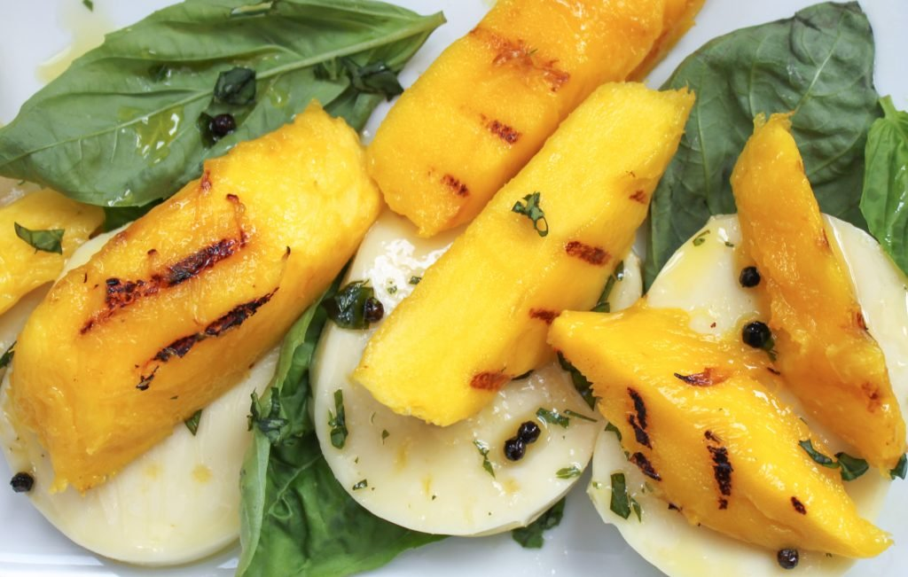 Mango Salad with Basil Mozzarella Top 1