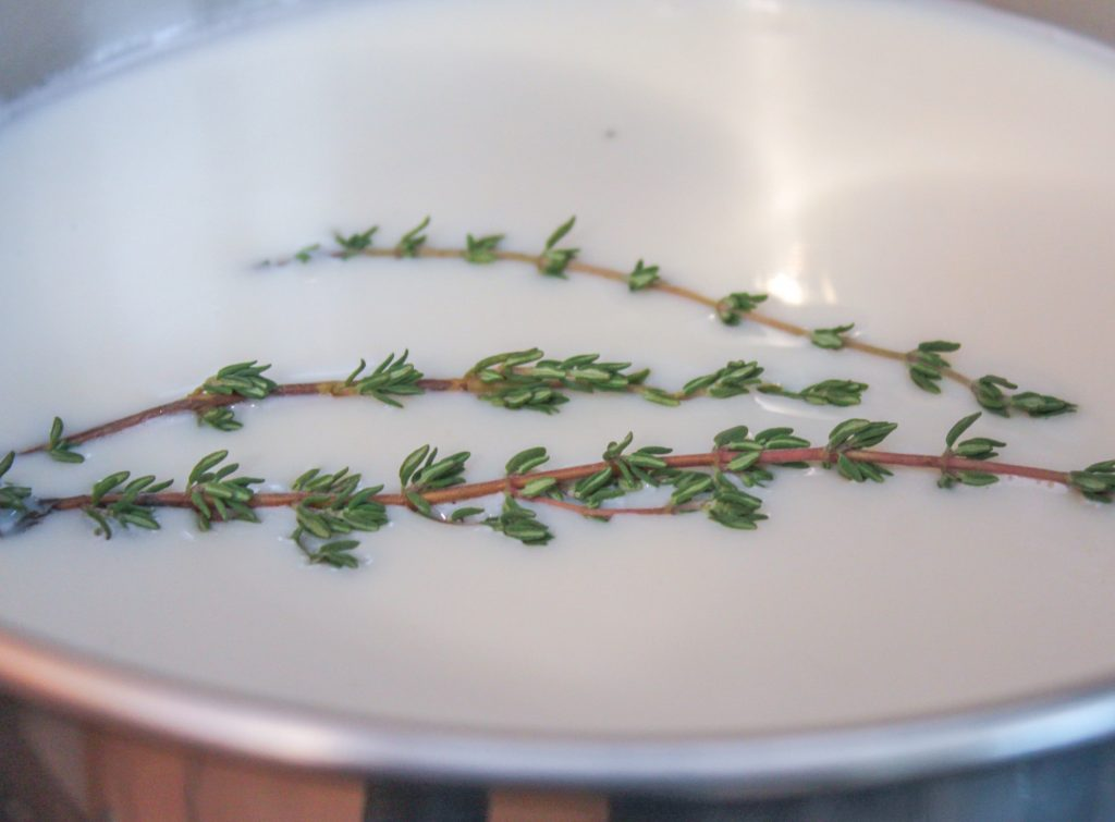 Milk with Fresh Thyme 1