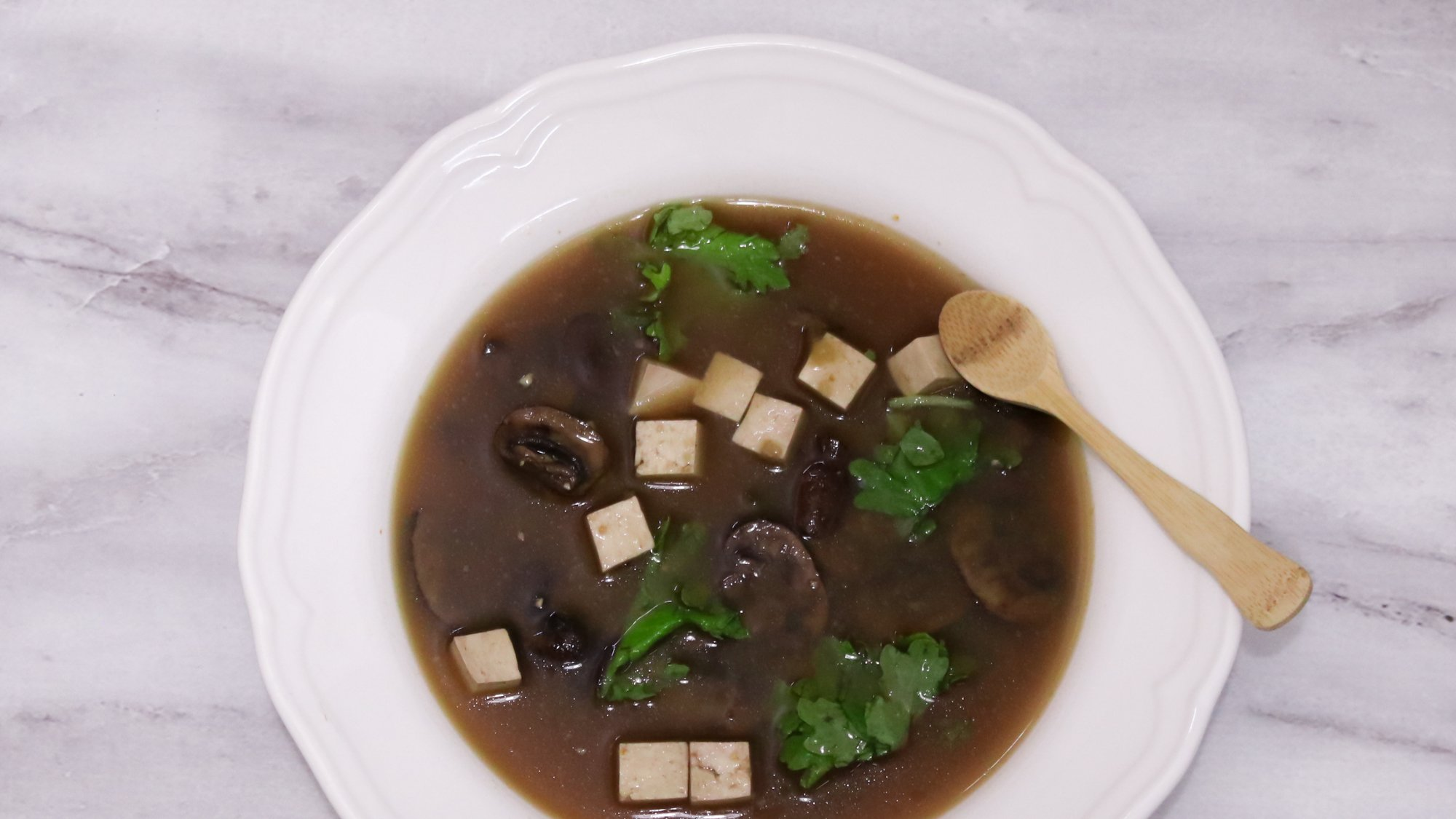 Miso Soup with Mushrooms Kale Tofu Detox Recipe Main 1