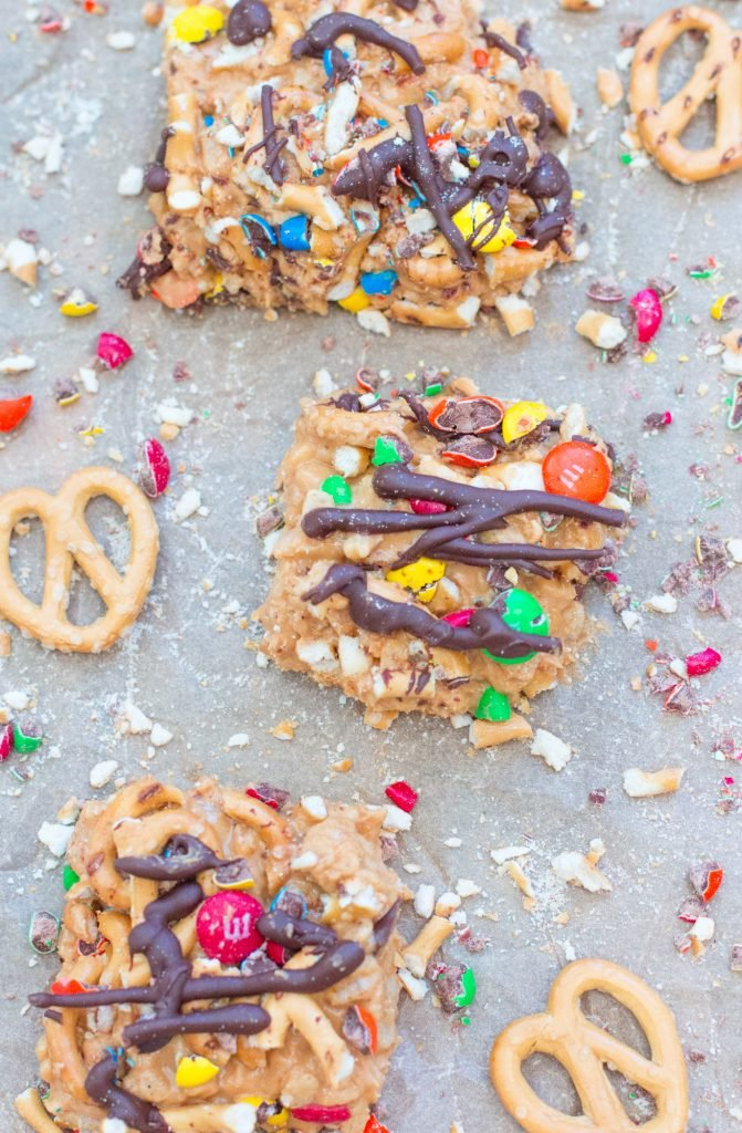 No Bake Peanut Butter Confetti Bars 2 2
