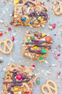 No Bake Peanut Butter Confetti Bars 2 3