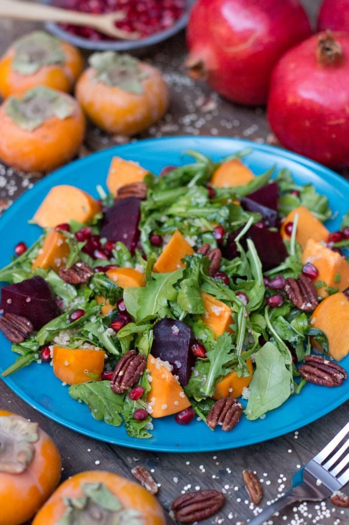 Persimmon Pomegranate Quinoa Salad 2 2