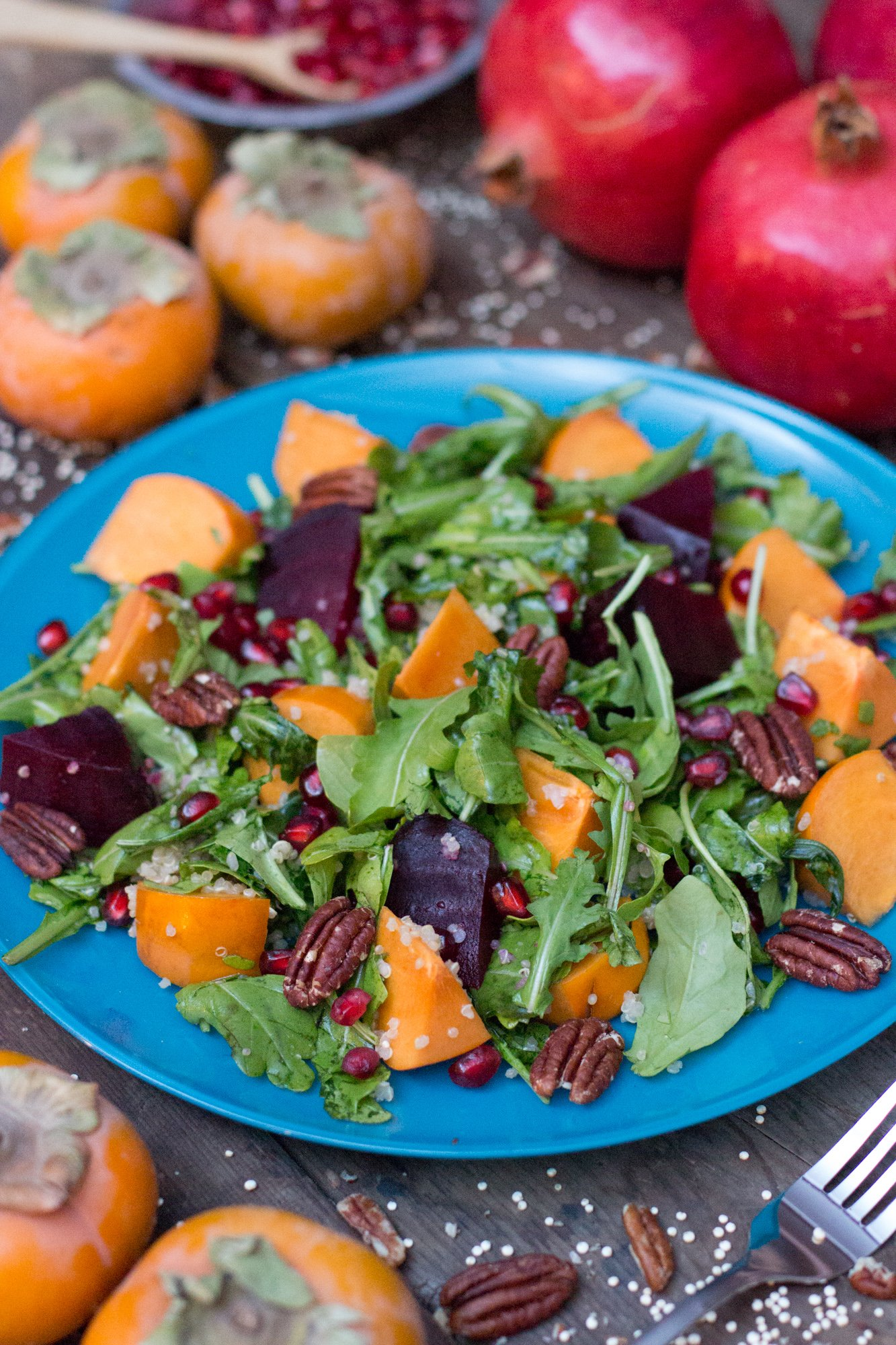 Persimmon Pomegranate Quinoa Salad 2 3
