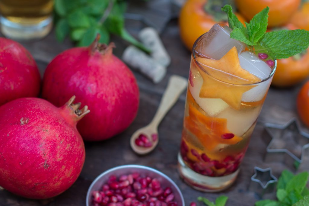 Persimmon Pomegranate Thanksgiving Sangria 1