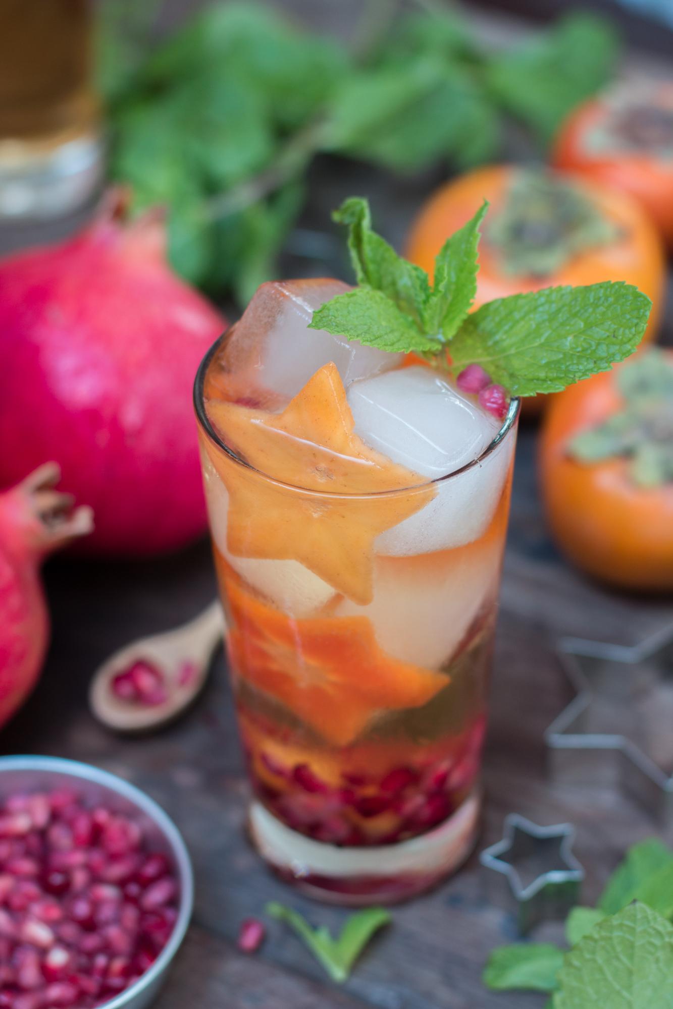 Persimmon Pomegranate Thanksgiving Sangria 2 3
