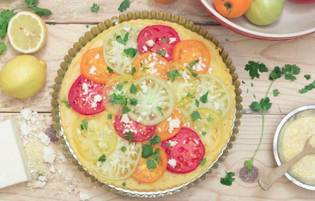 Polenta Tomato Tart 1