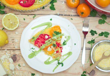 Polenta Tomato Tart Avocado Hollandaise 3