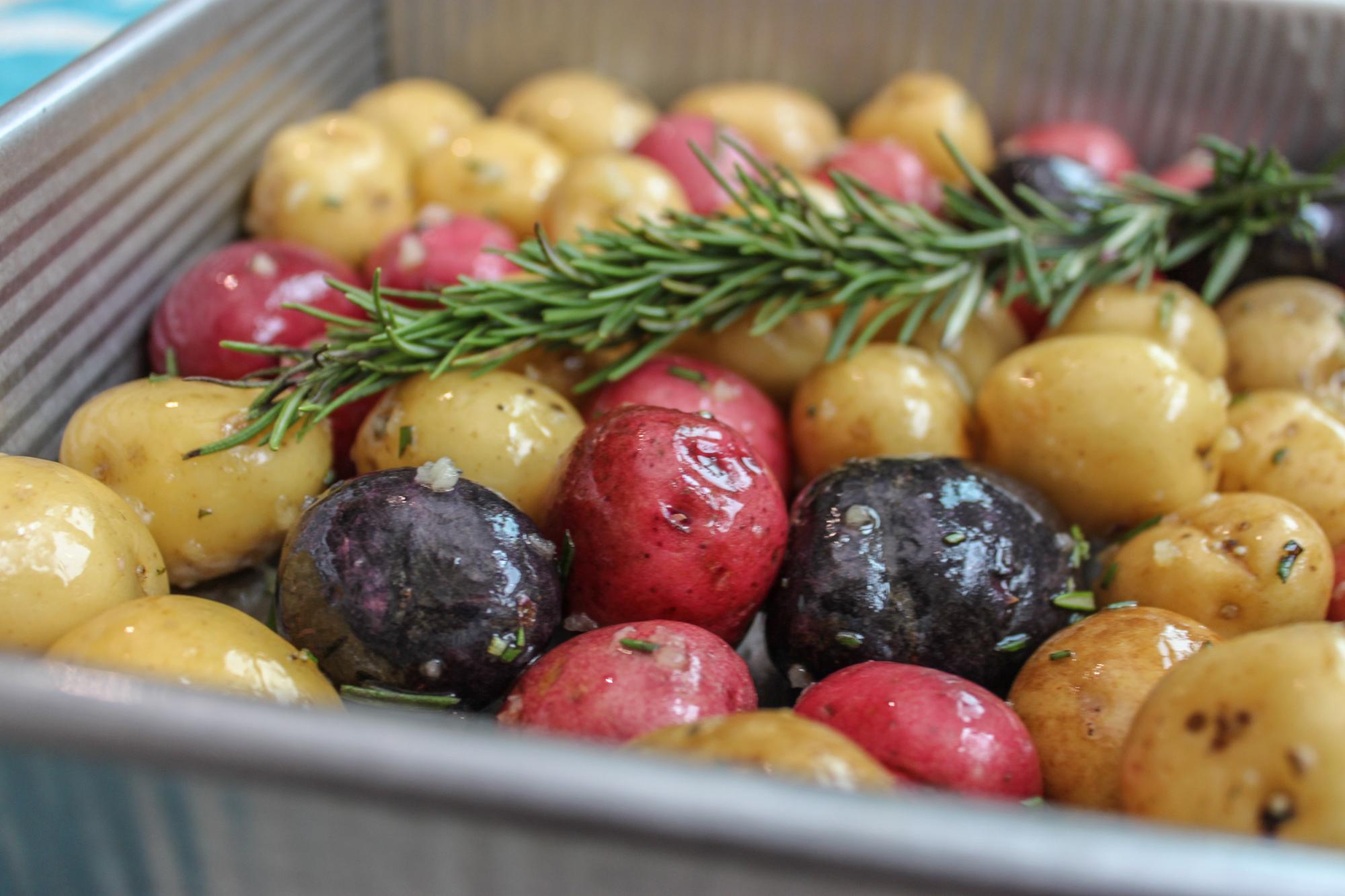 Potatoes Roasted with Garlic Rosemary 1