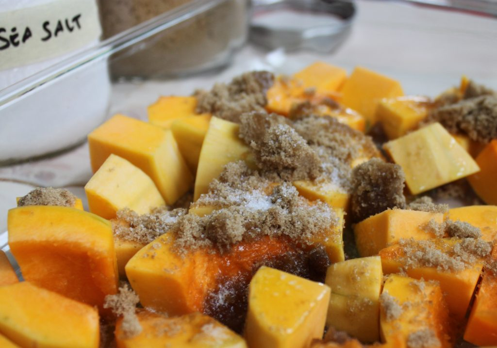 Prepping Caramelized Butternut Squash 1