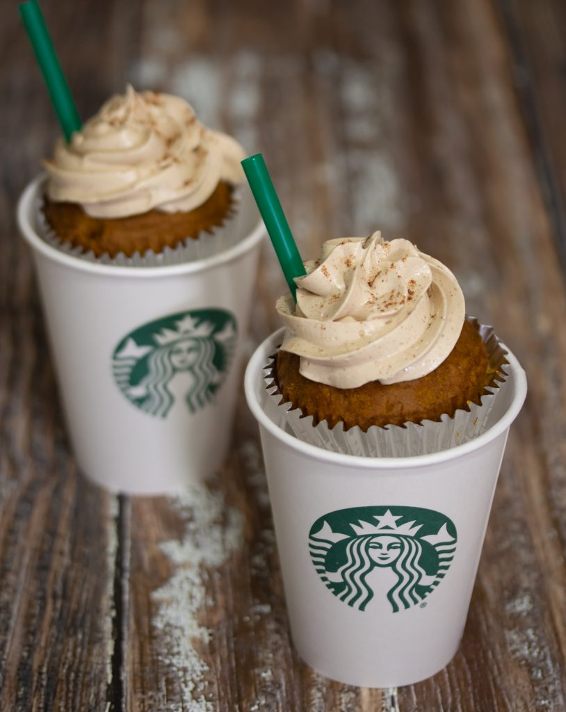 Pumpkin Spice Latte Cupcakes with Coffee Frosting 1