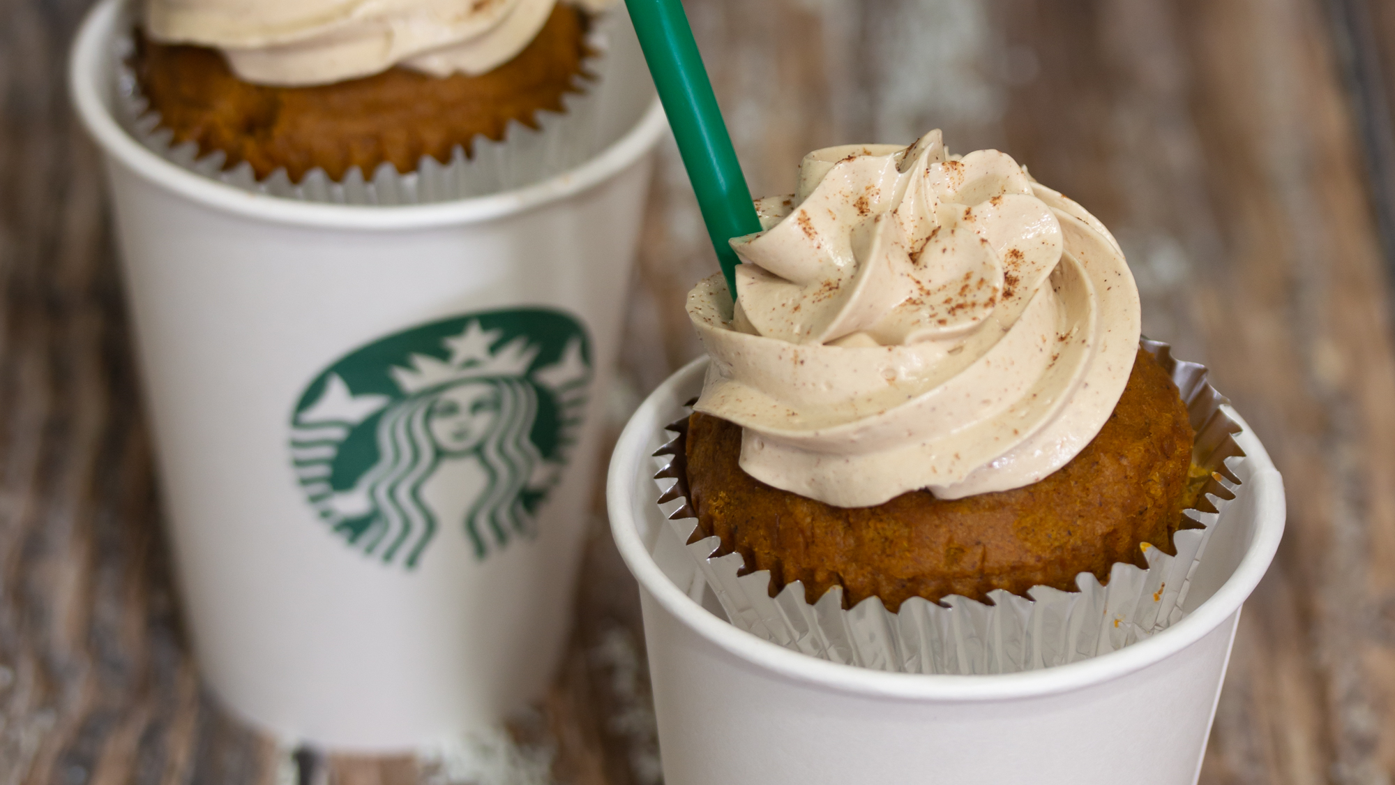 Pumpkin Spice Latte Cupcakes with Coffee Frosting Main 1