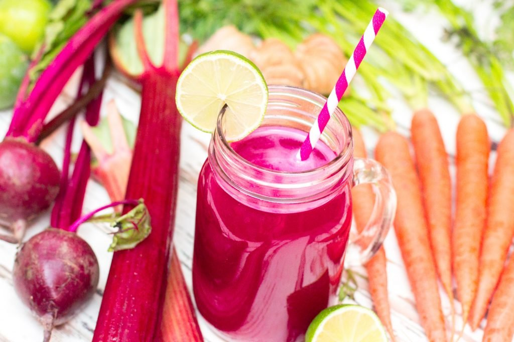 Rhubarb Ginger and Beet Juice 2