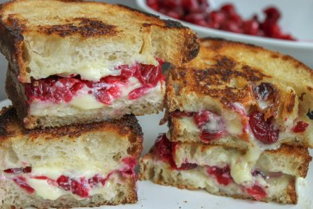 Roasted Cranberry Brie Grilled Cheese 3