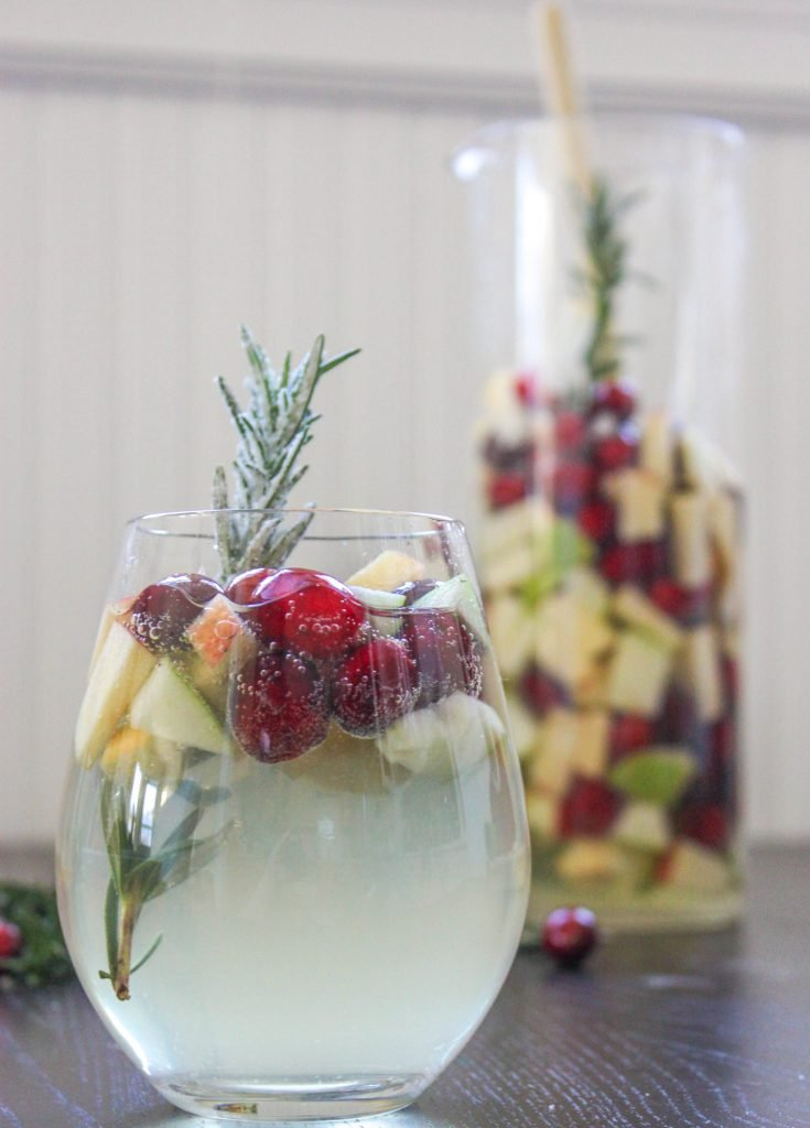 Rosemary Cranberry White Sangria 3 2