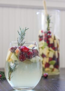 Rosemary Cranberry White Sangria 3 3