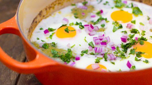Salsa Verde Baked Eggs1 1