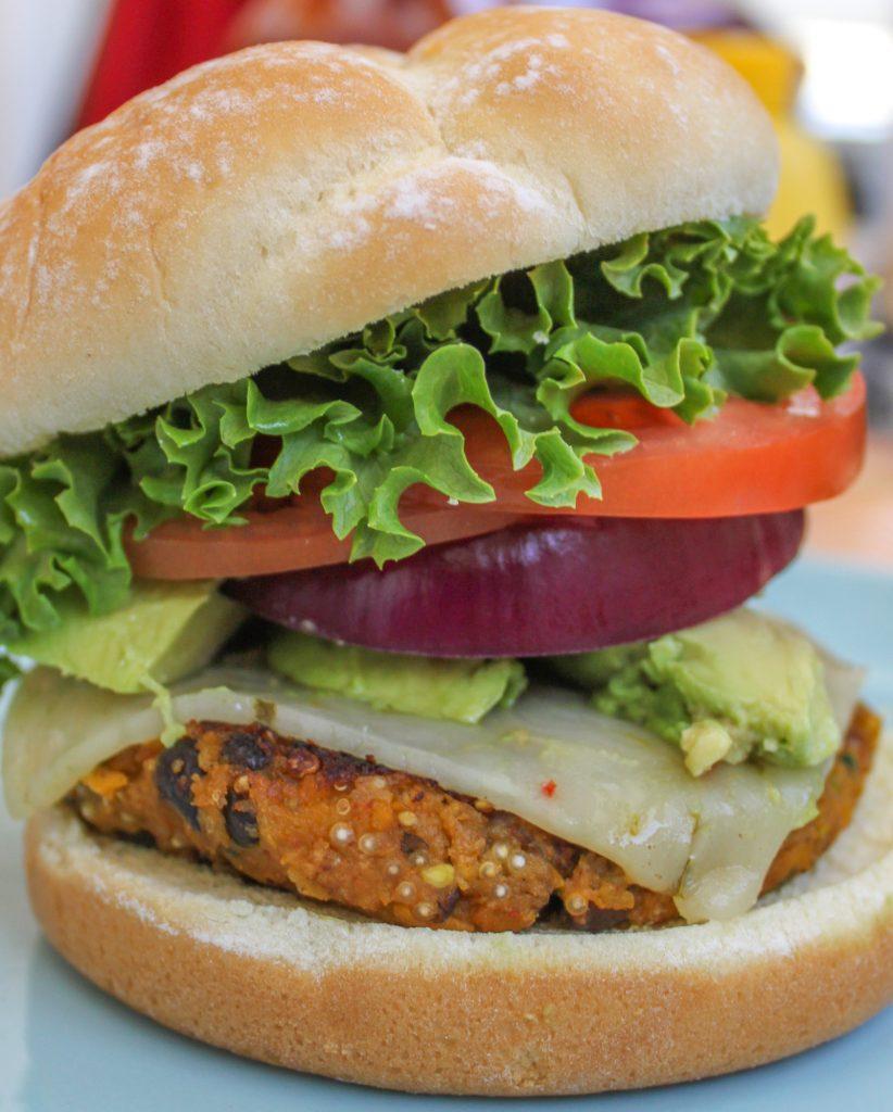 Spicy Butternut Squash Black Bean Burger All 1