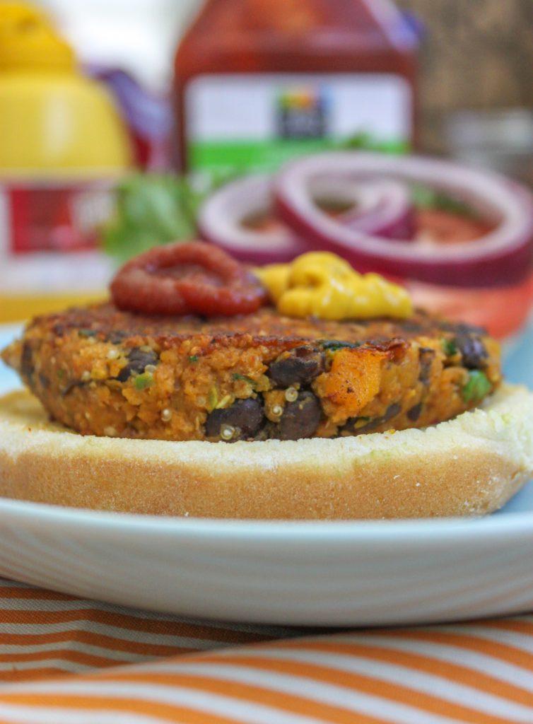 Spicy Butternut Squash Black Bean Burger Full 1