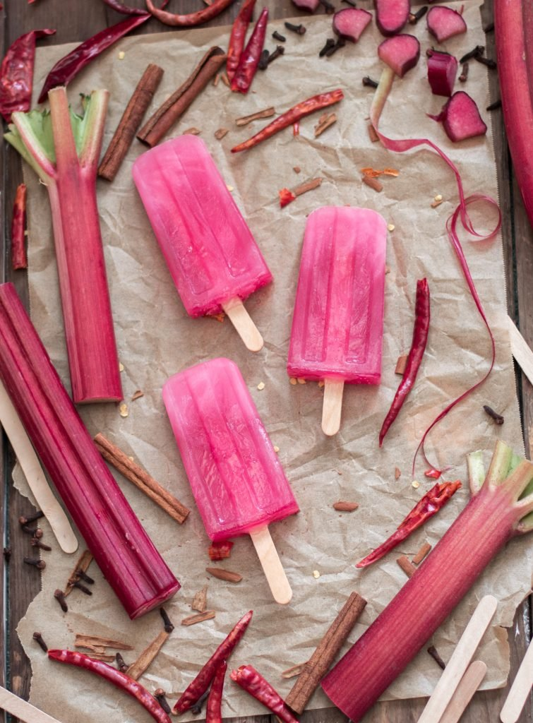 Spicy Cinnamon Rhubarb Popsicles 2 2