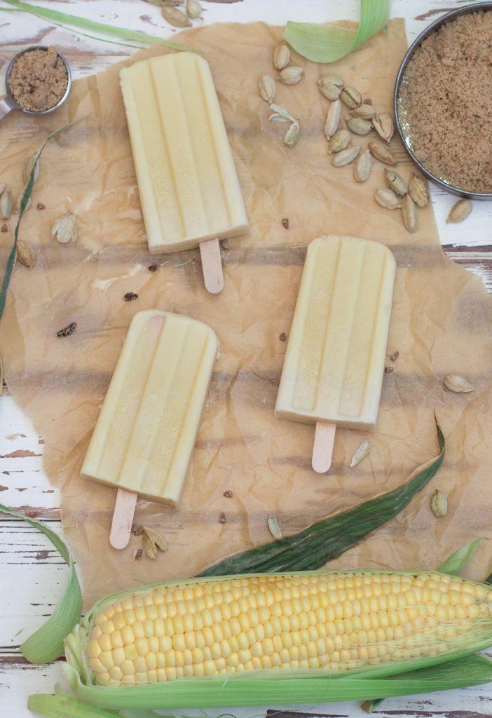 Sweet Corn Cardamom Popsicles 2 1