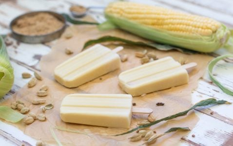 Sweet Corn Cardamom Popsicles 3 1