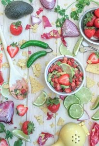 Sweet Strawberry Avocado Salsa 2 3