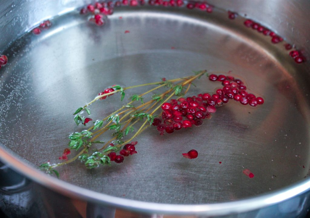 Thyme Pink Peppercorn Simple Syrup 1