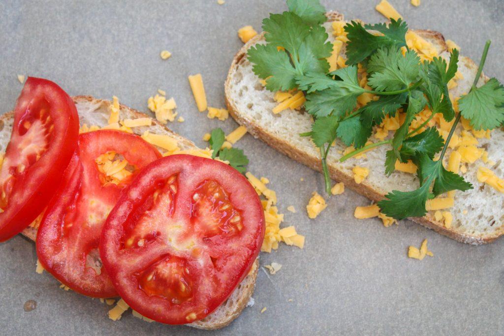 Tomato and Cilantro Sandwich 1