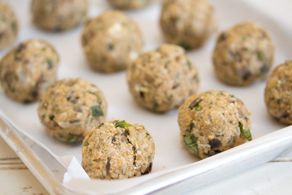 Uncooked Eggplant Meatballs 1