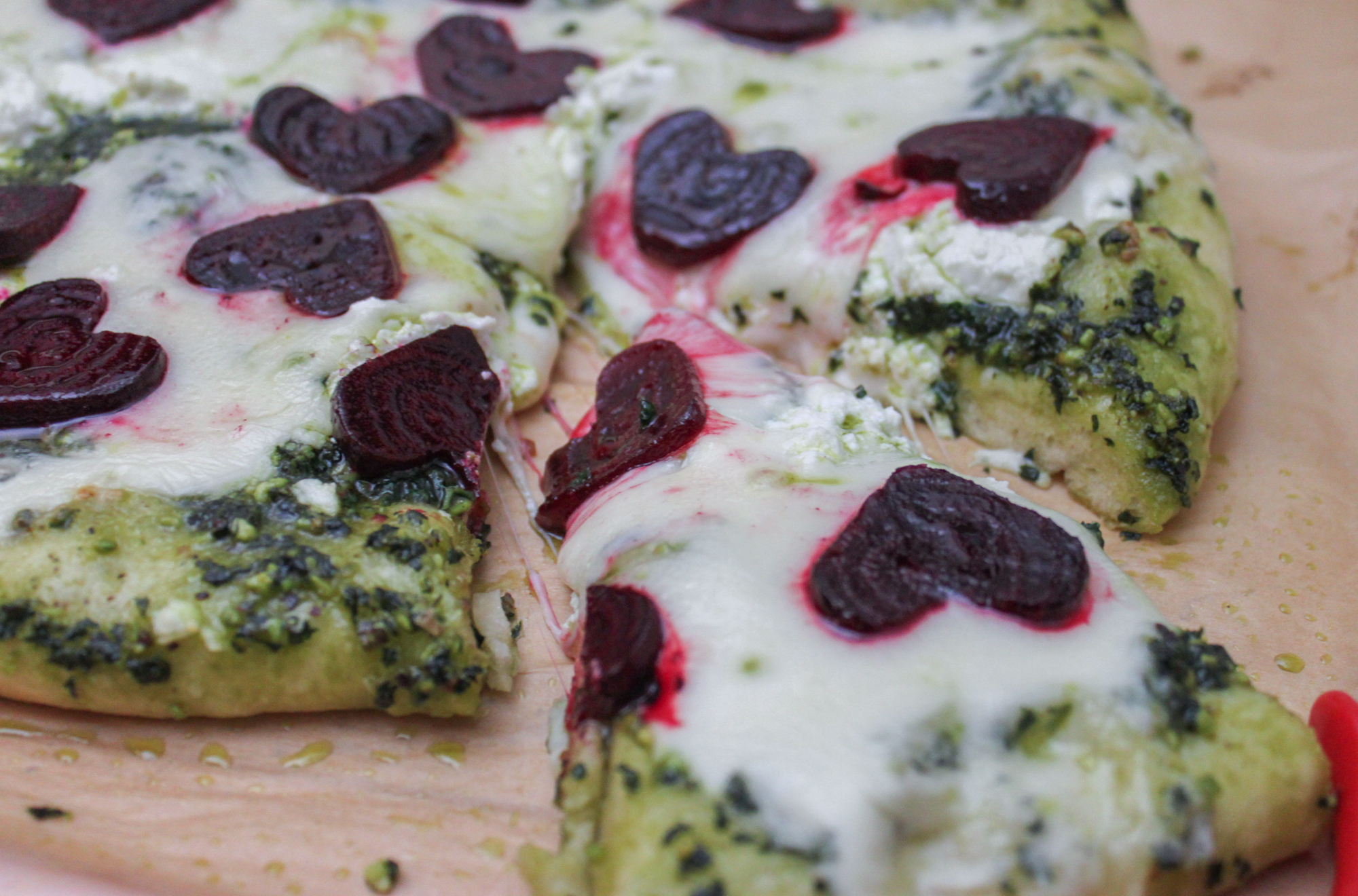 Valentines Day Pizza with Beets Kale Pesto Final 1
