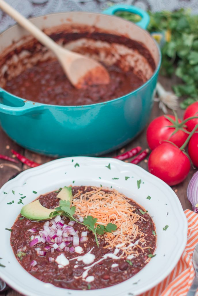 Vegan Chili with Quinoa Coffee 2