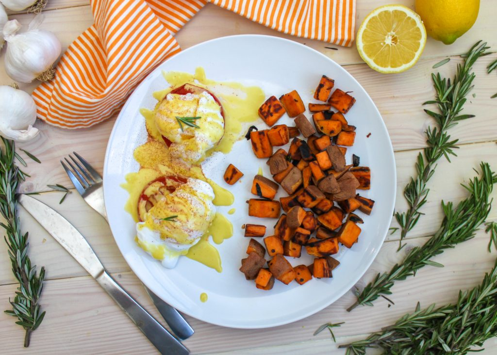 Vegetarian Eggs Benedict 3