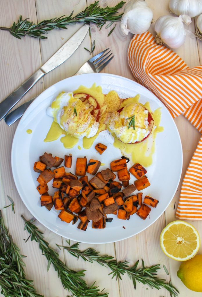 Vegetarian Eggs Benedict Full 2