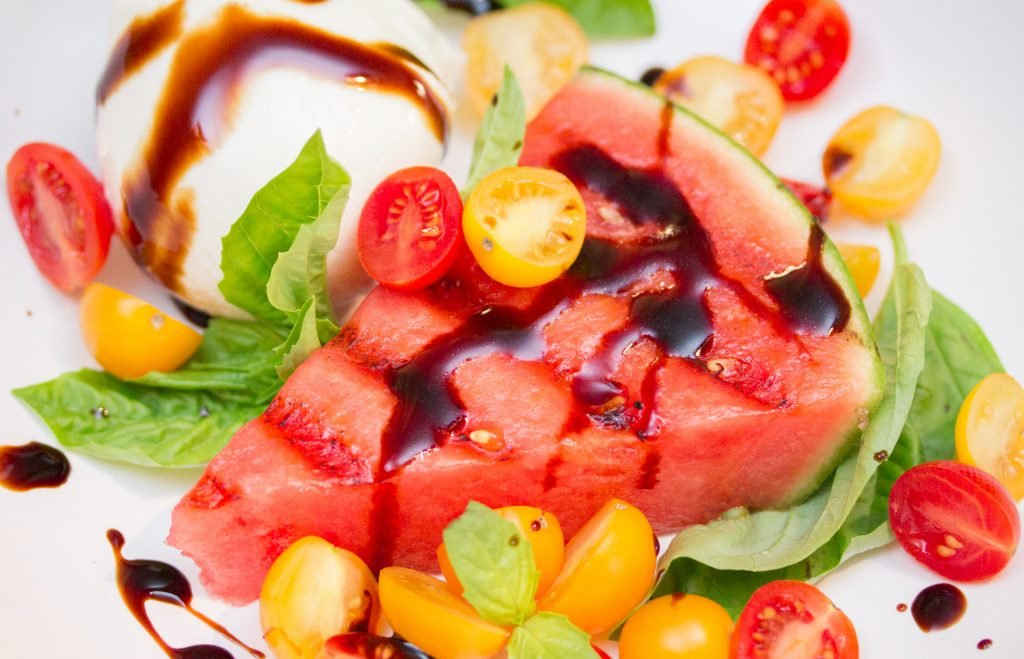 Watermelon Tomato Mozzarella Salad 1