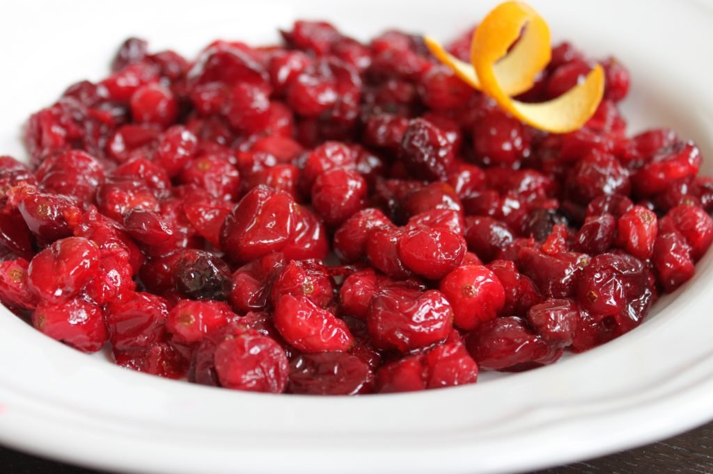 boozy baked cranberries 1