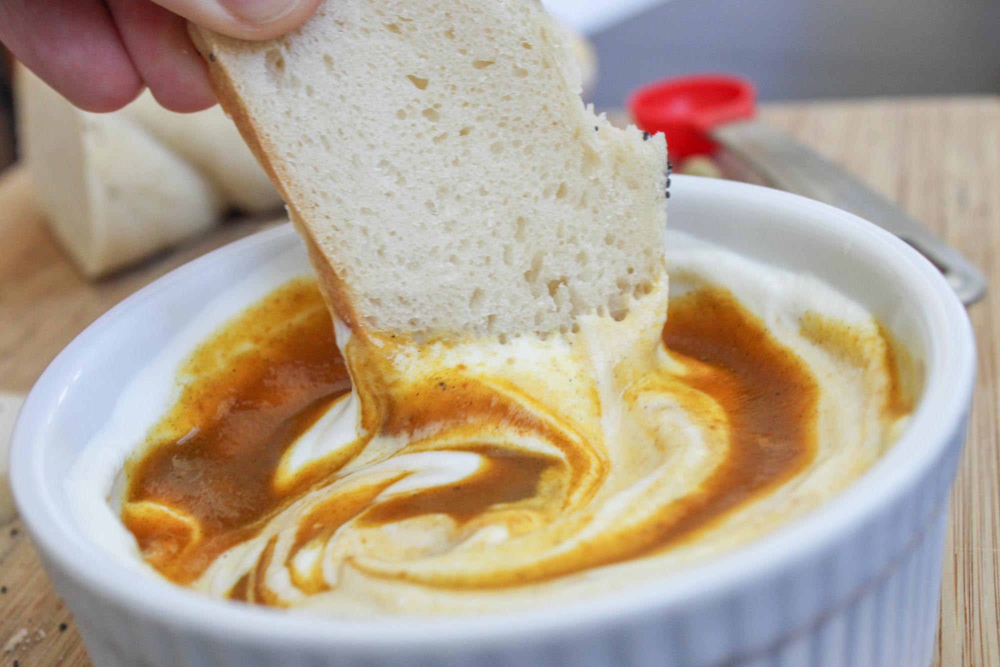 goat cheese pumpkin fondue 1 1