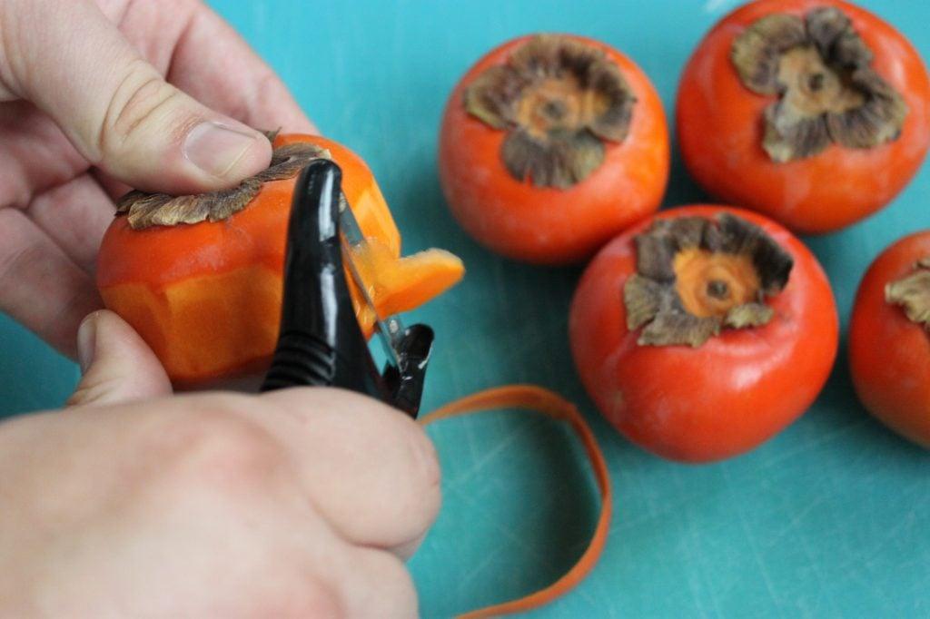peeling persimmons 3
