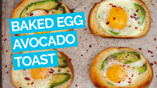 Baked Egg Avocado Toast video blue