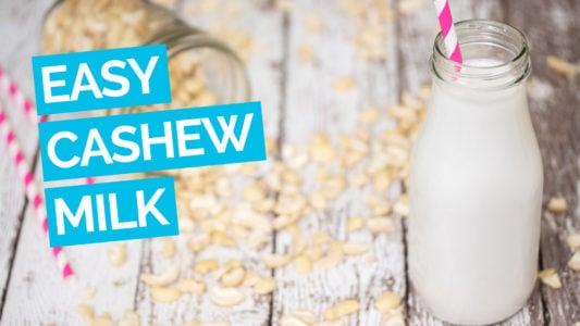 Easy Homemade Cashew Milk video blue